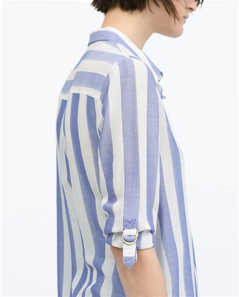 White And Blue Shirt blue white striped shirt artee shirt