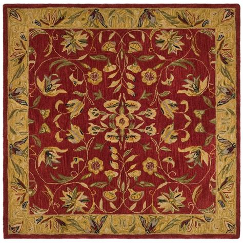 area rug 4 x 8 safavieh anatolia burgundy gold 8 ft x 8 ft square area rug an526a 8sq the home depot