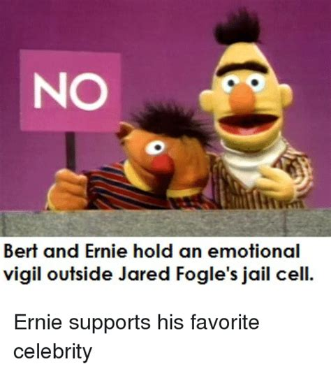 Ernie Meme - no bert and ernie hold an emotional vigil outside jared