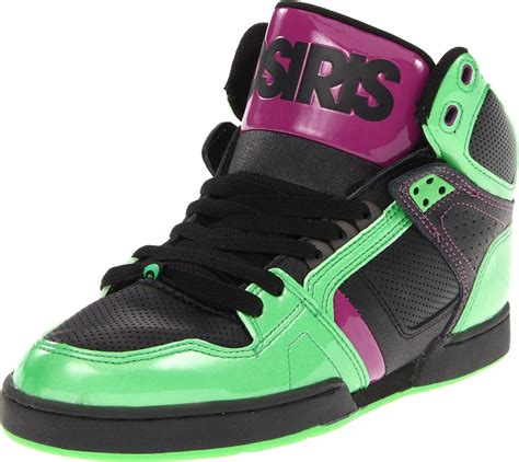 osiris shoes osiris nyc 83 lime black purple new hi top mens skate