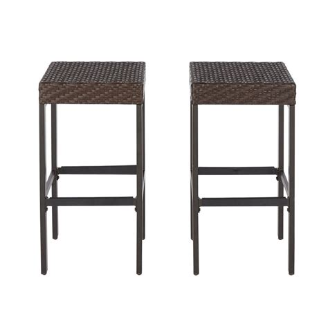 outside patio bar stools home decorators collection 19 in round rivet garden patio
