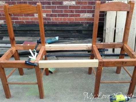 bench made from 2 chairs best 25 old chairs ideas on pinterest wooden chairs for