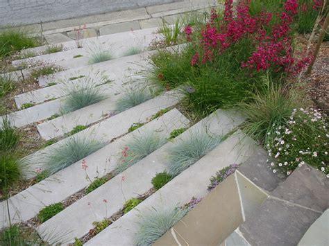 cement garden concrete garden steps