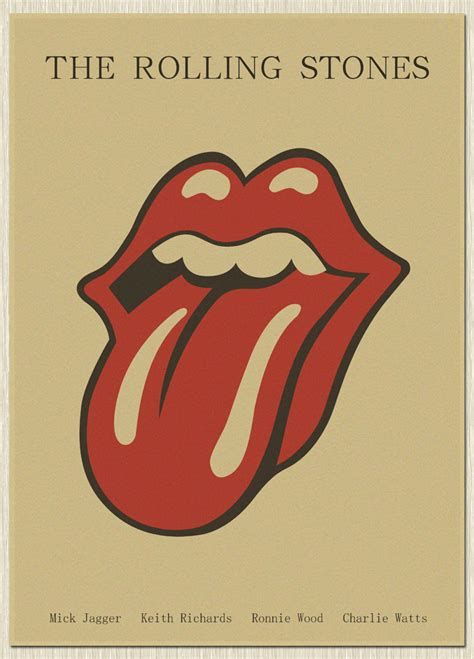 Aliexpress Home Decor by The Rolling Stones Vintage Style Retro Paper Poster Wall