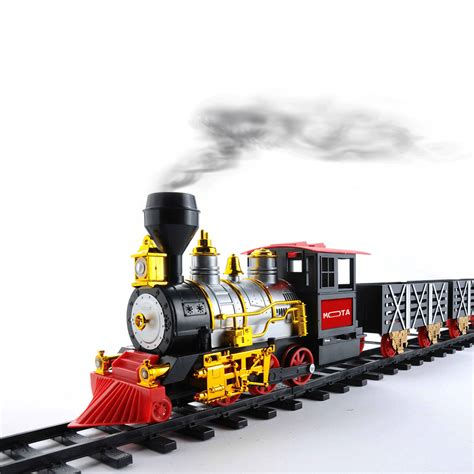 new holiday classic train track set smoke lights sounds