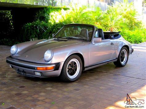 rare porsche 911 1987 porsche 911 carrera cabriolet g50 rare color clean