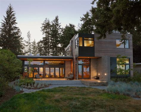 eco modern homes modern home in bainbridge island with sustainable features