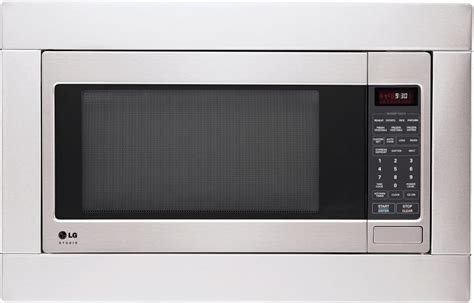 lg cabinet microwave lg lsrm2010st 2 0 cu ft countertop microwave oven with sensor cook easyclean 174 interior 7