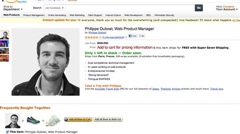Fake Amazon Page Is Best Online Resume Ever Mashable | fake amazon page is best online resume ever
