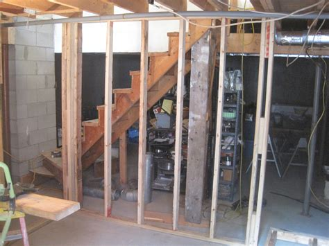 how to build a basement wall rooms