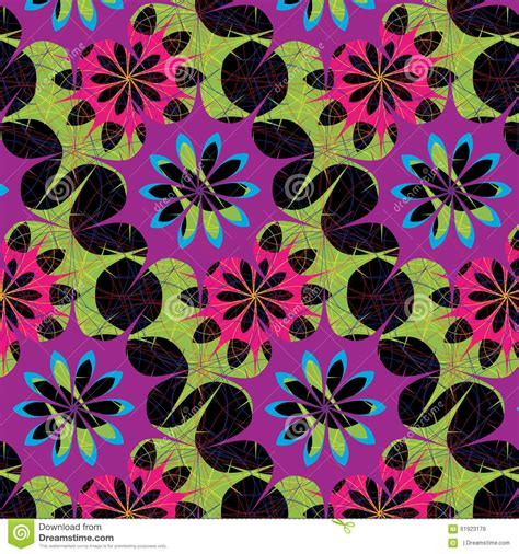 floral pattern repeat vector seamless abstract multicolor floral pattern stock vector