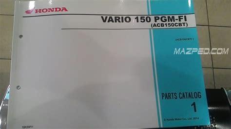 Katalog Spare Part Honda Vario 150 berikut rincian harga part 1 paket answer back system