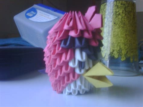 tutorial angry bird origami 3d 3d origami angry bird red by seemsgood on deviantart