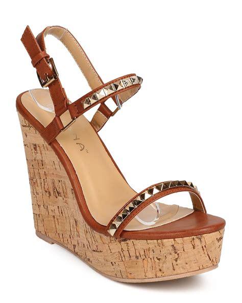 shoes liliana di23 leatherette open toe pyramid