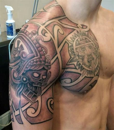 tribal tattoo on chest and shoulder excellent tribal ideas part 4 tattooimages biz