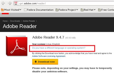 adobe reader 9 free download for xp full version software how to install adobe reader 9 4 7 on fedora 15 16 and