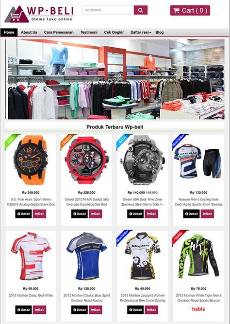 template toko online lengkap berkah template toko online wordpress wp beli v1