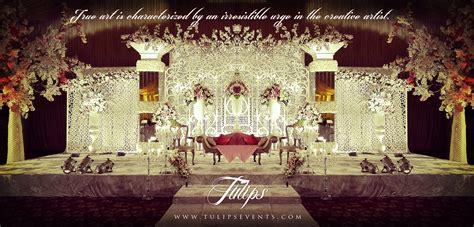 White Wedding Stage Decoration by Crystals Wedding Theme Design Ideas In Pakistan