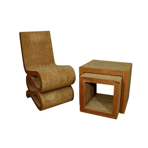 frank gehry cardboard chair frank gehry corrugated cardboard chair and nesting tables