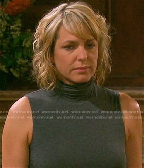 nicole hair days of our lives nicole s grey sleeveless turtleneck top on days of our