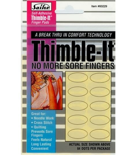 Thimble Pads Quilting by Jo Stores Self Adhesive Thimble It Finger Pads At