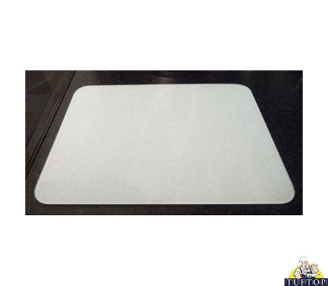 new tuftop white glass chopping board kitchen worktop