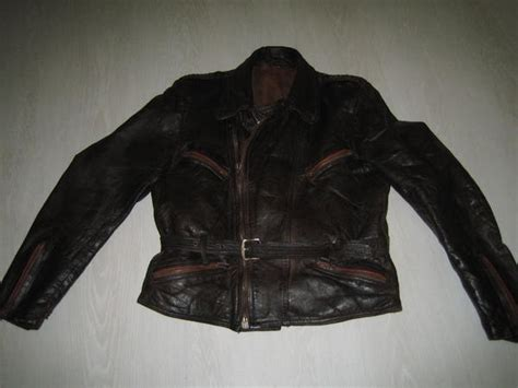 Motorradbekleidung 50er Jahre by Motorrad Lederjacke Original 50er Jahre Rockabilly Braun
