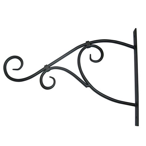 Plant Hooks And Hangers - shop patio 13 75 in black steel plant hook at lowes
