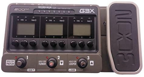 Multi Efek Zoom G3x zoom g3x review guitar verdictguitar verdict