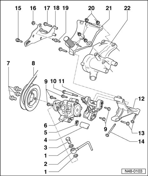 free download parts manuals 2010 volkswagen golf head up display volkswagen workshop manuals gt golf mk3 gt running gear gt steering gt assembly overview vane pump