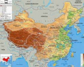 physical maps of political physical maps of china free printable maps