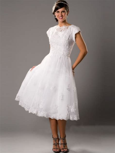 vintage tea length wedding dress trendy dress