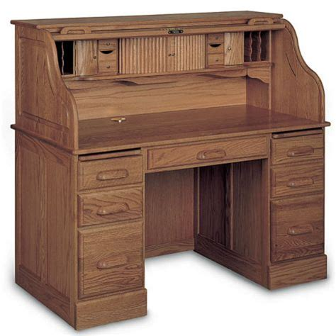 solid wood desk top solid wood pedestal roll top desk 54w