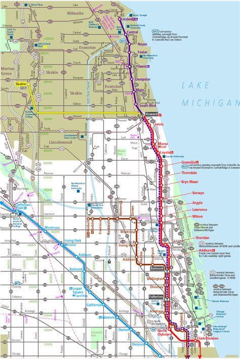 chicago map cta cta l map