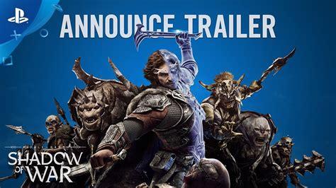 Dijamin Middle Earth Shadow Of War Ps4 middle earth shadow of war official announcement trailer ps4