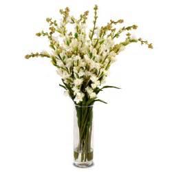 Vase Cylinder Tuberose Bouquet New Growth Designs