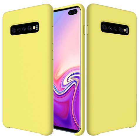 shockproof solid color liquid silicone case  galaxy  yellow alexnldcom