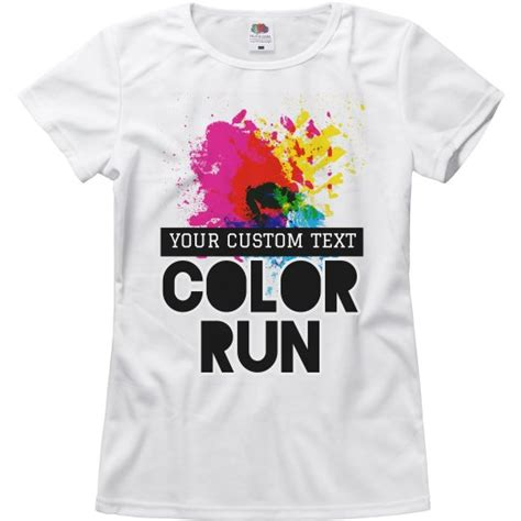 color run shirts customizable color run designs relaxed fit basic