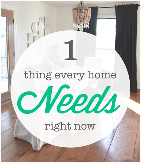 things every home needs the 1 thing every home needs