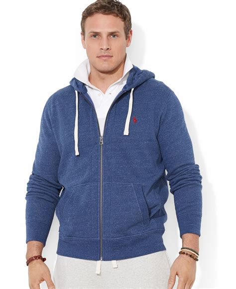 Polos Zip Hoodie polo ralph big and classic fleece zip hoodie in blue for lyst