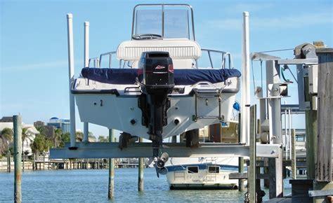 boat lift walkway elevator boat lifts by davit master