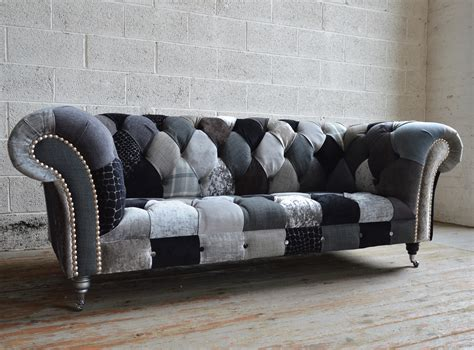 Chesterfield Patchwork Sofa - walton patchwork chesterfield sofa abode sofas