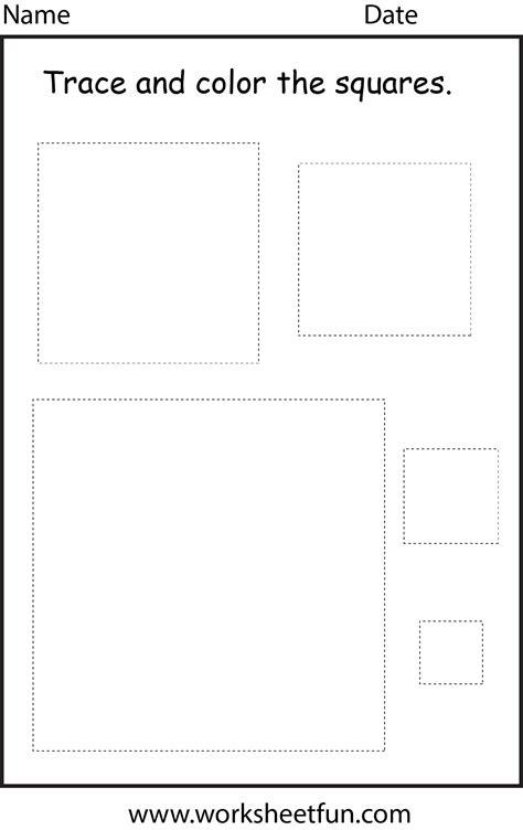 shape square  worksheet  printable worksheets