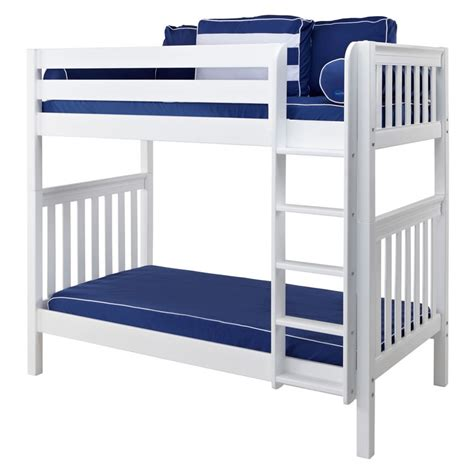 tall loft bed tall bunk bed in white with straight ladder by maxtrix 780 0