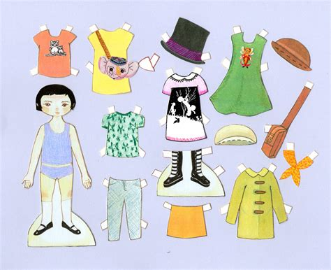 How To Make Paper Dolls And Clothes - paper doll clothes clipart 39