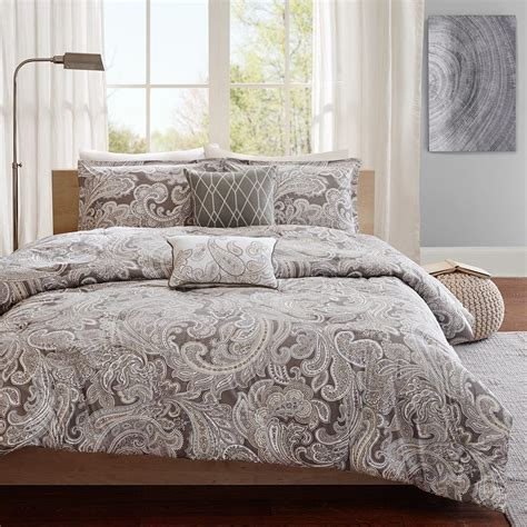cotton comforter set madison park pure ronan 5 piece cotton comforter set ebay