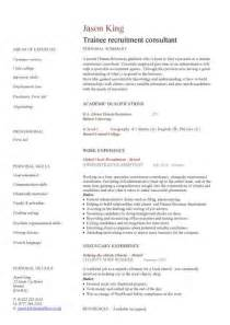 Sle Cover Letter For Recruitment Agency by Sales Consultant Resume Sle Financial Advisor Resume
