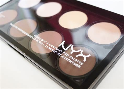 Nyx Pro Pro Contour Concealer Highlighter 15 Color review nyx highlight and contour pro palette simple stylings