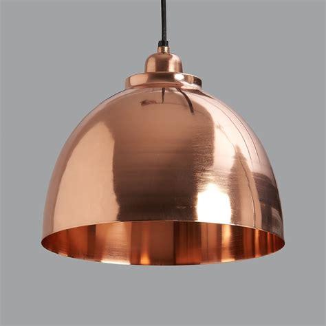 copper plated pendant light