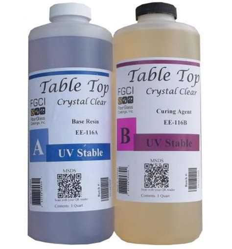 clear epoxy resin table top clear epoxy table top resin 1 2 gallon kit